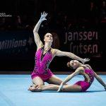 Acro damespaar van DOS Monster schittert op WK in Antwerpen